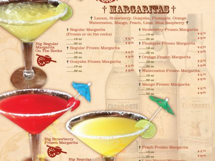 Drink menu zapatas