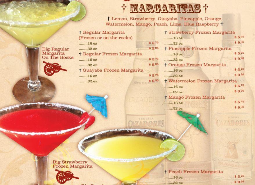 Drink menu zapatas