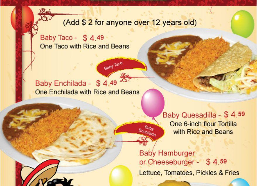 kids menu El Campesino