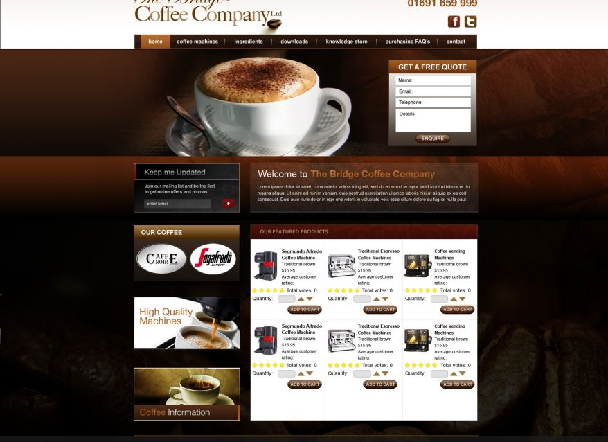 Bridge Coffee Homepage